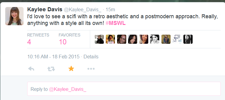 Example of a #MSWL tweet