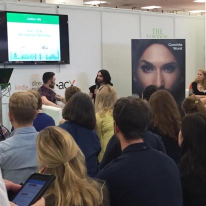 Eurovision winner Conchita Wurst at the Author HQ.